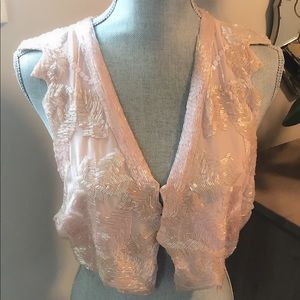 Urban Outfitters Blush Beaded Vest